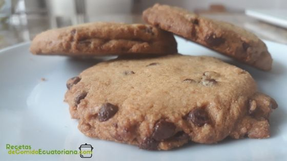 como hacer galletas de chispas de chocolate